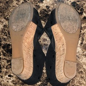 Lucky Brand Shoes - Lucky Brand Cork Sole Pumps With Black Straps